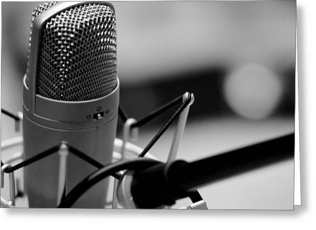 Performance Microphone Greeting Card by Daniel Hagerman