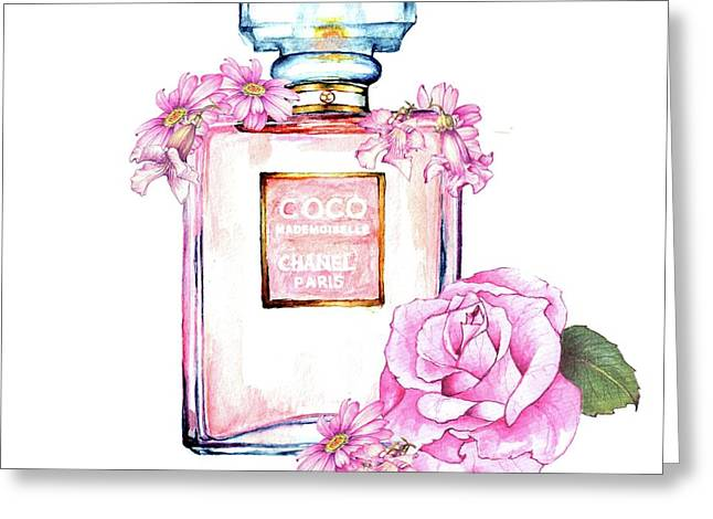 Perfume Florals Greeting Card