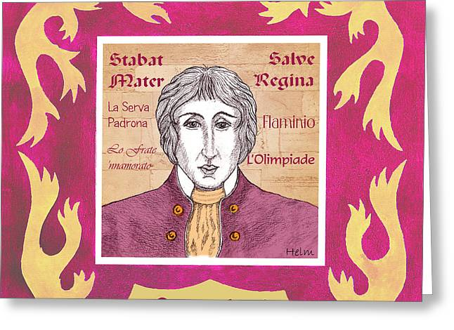 Pergolesi Greeting Card by Paul Helm