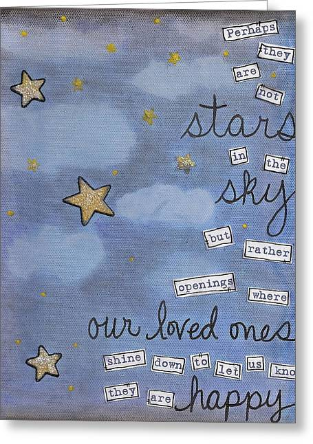 Perhaps They Are Not Stars Greeting Card