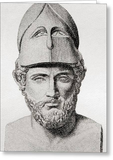 Pericles, C. 495 To 429 Bc. Greek Greeting Card by Vintage Design Pics