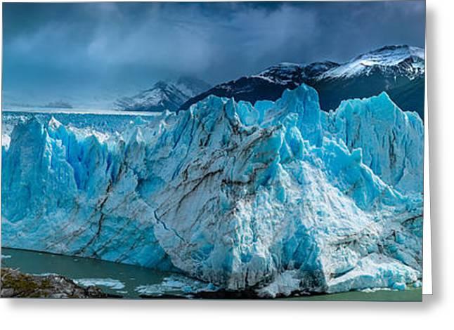 Perito Moreno Panorama Greeting Card by Inge Johnsson