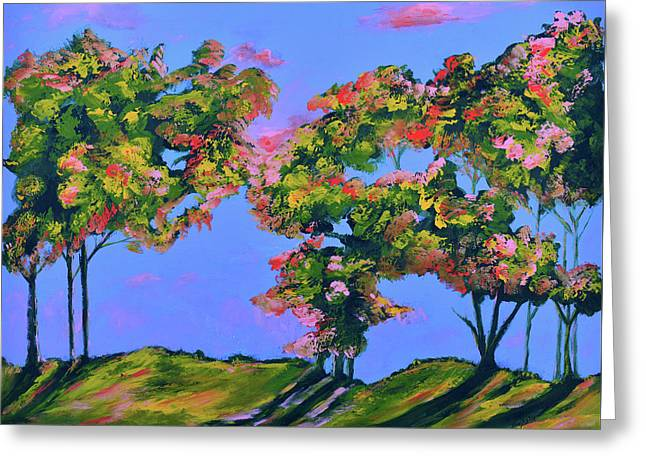 Periwinkle Twilight Greeting Card by Donna Blackhall
