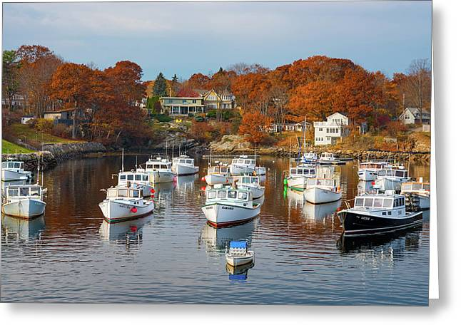Greeting Card featuring the photograph Perkins Cove by Darren White