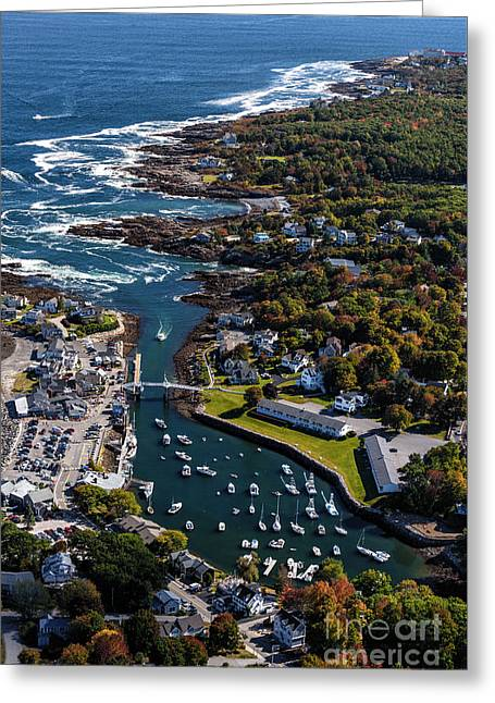 Perkins Cove To The Cliff House Greeting Card by Scott Thorp