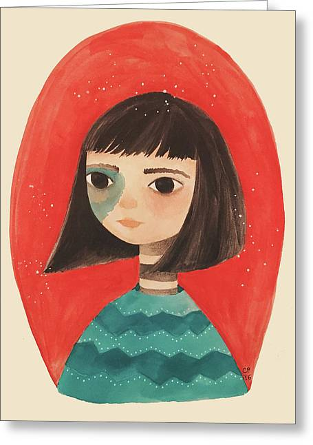 Permanent Contemplation Greeting Card by Carolina Parada
