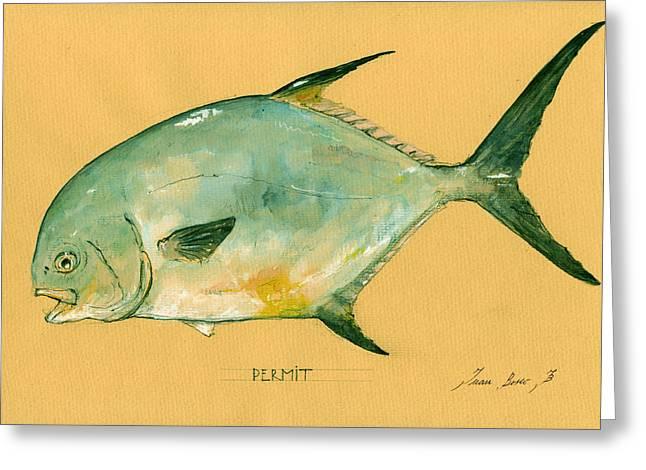 Permit Fish Greeting Card
