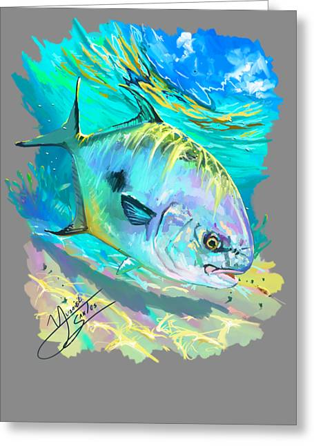 Permit On Fly  Greeting Card