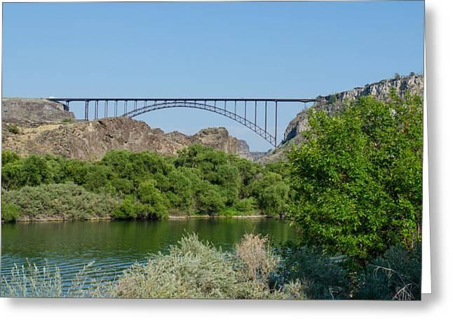 Perrine Bridge At Twin Falls Greeting Card
