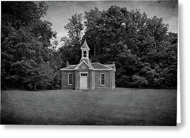 Perry Township School No. 3 B W Greeting Card