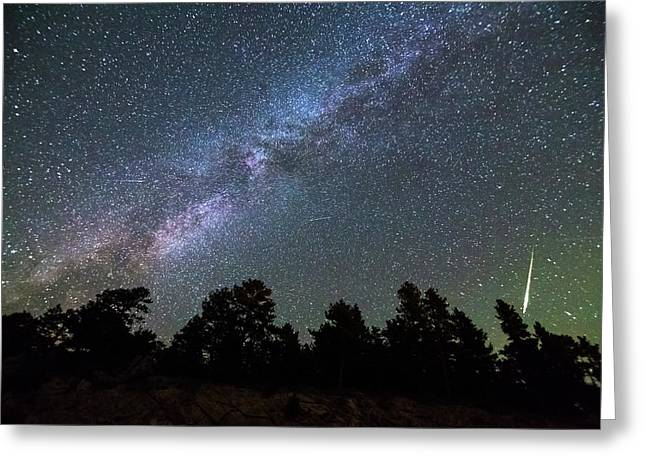 Greeting Card featuring the photograph Perseid Meteor by James BO Insogna