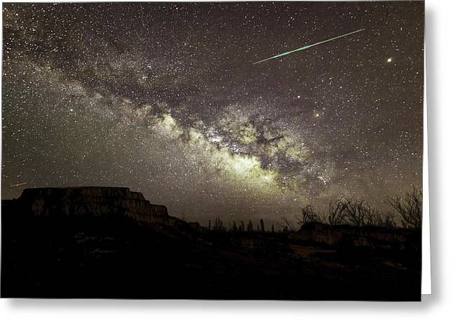 Perseids Milky Way Greeting Card