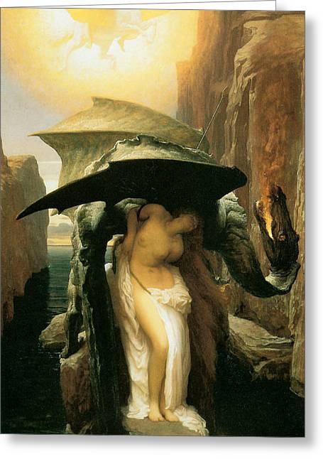 Perseus Greeting Cards - Perseus and Andromeda Greeting Card by Frederick Leighton