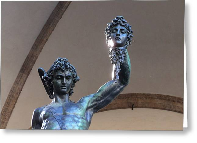 Perseus And Medusa Detail Greeting Card by Edan Chapman