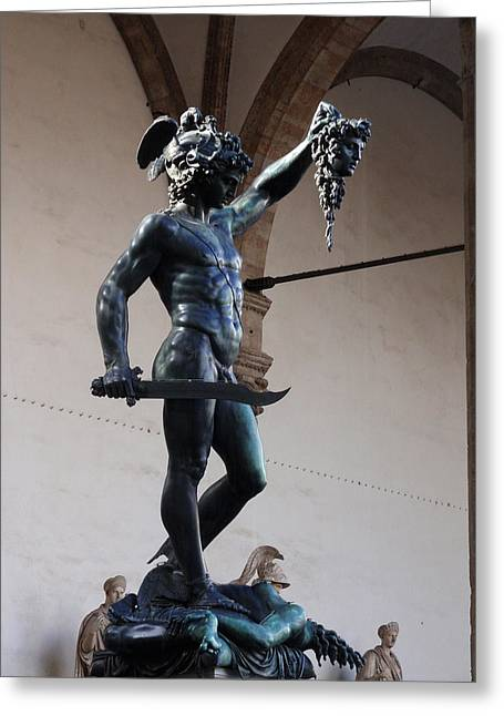 Perseus And Medusa Greeting Card by Edan Chapman