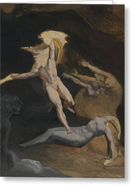 Perseus Slaying The Medusa Greeting Card by Henry Fuseli
