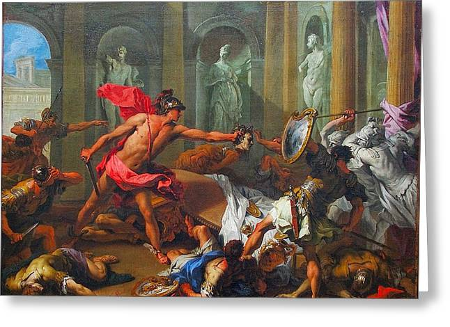 Perseus With The Head Of Medusa Greeting Card by MotionAge Designs