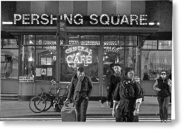 Pershing Square Monochrome Greeting Card