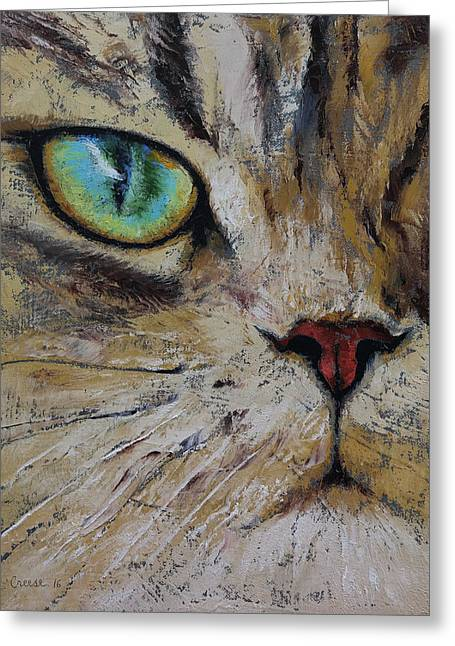 Persian Cat Greeting Card by Michael Creese