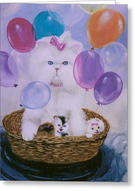 Greeting Card featuring the painting Persians Landing by Susan Roberts