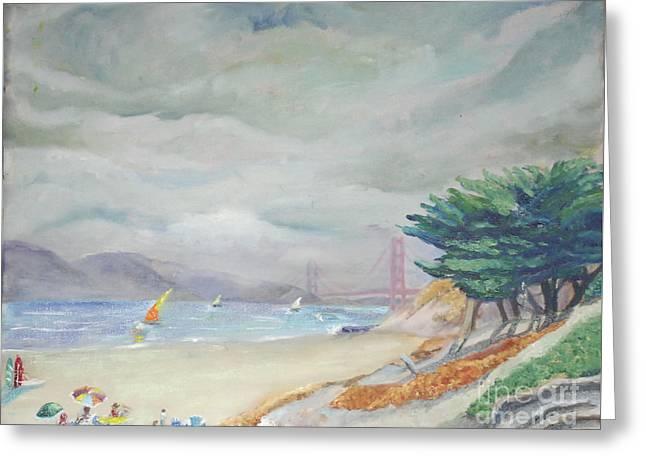 Persidio Beach Greeting Card by Lori Moon