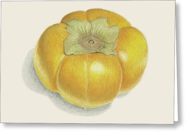 Persimmon Greeting Card by Carlee Lingerfelt