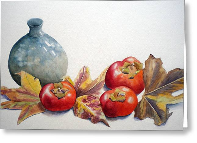 Persimmon Trio Greeting Card