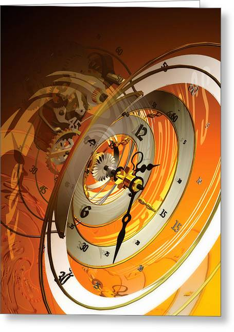 Fantastique Greeting Cards - Persistence of Time 2.0 Greeting Card by Kenn Brown