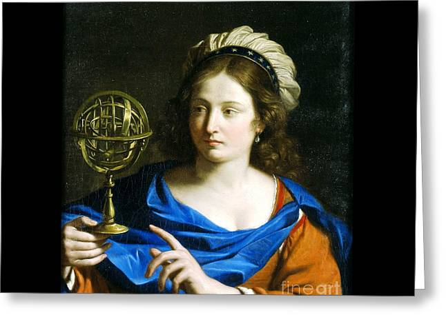 Personification Of Astrology Greeting Card by Pg Reproductions