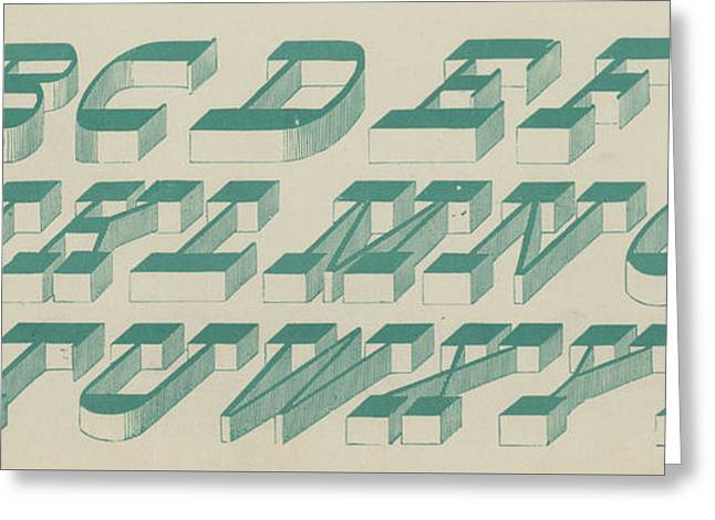 Perspective Italic Font Greeting Card