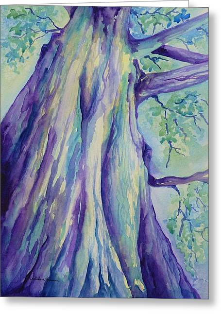 Big Tree Greeting Cards - Perspective Tree Greeting Card by Gretchen Bjornson
