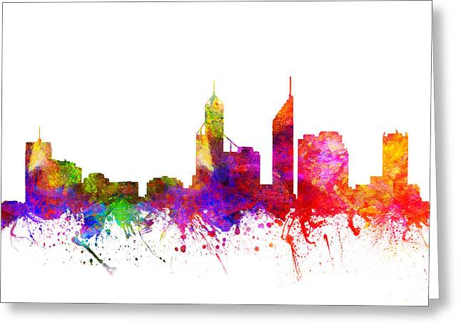 Perth Australia Cityscape 02 Greeting Card
