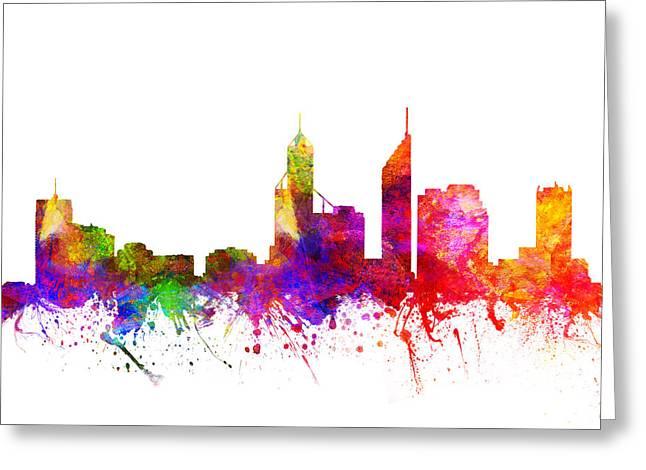 Perth Australia Cityscape 02 Greeting Card