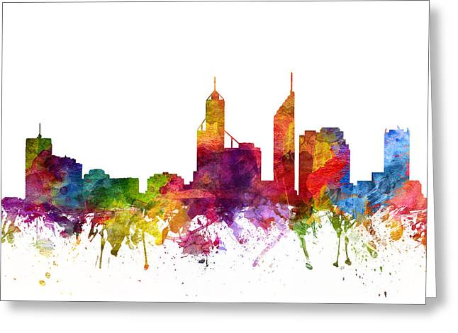 Perth Australia Cityscape 06 Greeting Card by Aged Pixel