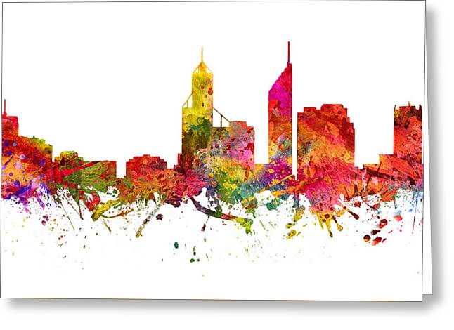 Perth Australia Cityscape 08 Greeting Card by Aged Pixel