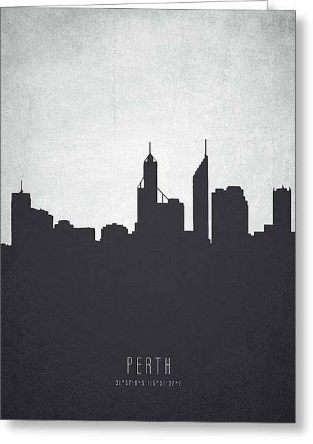 Perth Australia Cityscape 19 Greeting Card by Aged Pixel