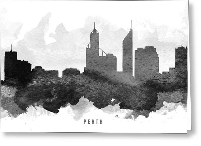 Perth Cityscape 11 Greeting Card by Aged Pixel