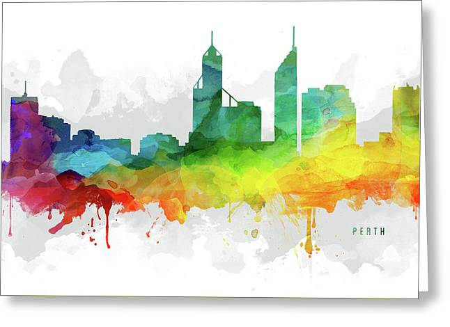 Perth Skyline Mmr-aupe05 Greeting Card by Aged Pixel