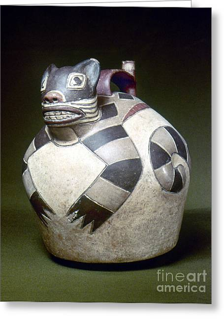 Peru: Nazca Whistling Jar Greeting Card by Granger