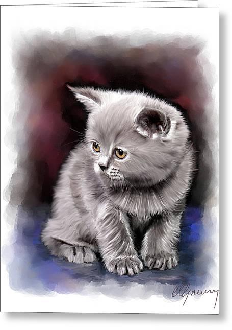 Pet Cat Portrait Greeting Card
