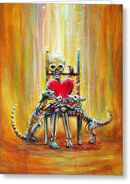 Greeting Card featuring the painting Pet Love by Heather Calderon