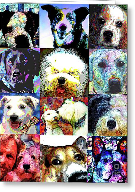 Pet Portraits Greeting Card by Alene Sirott-Cope