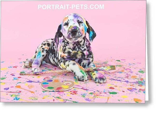 Pet Portraits With A Touch Of Humour Greeting Card by Pet Portrait