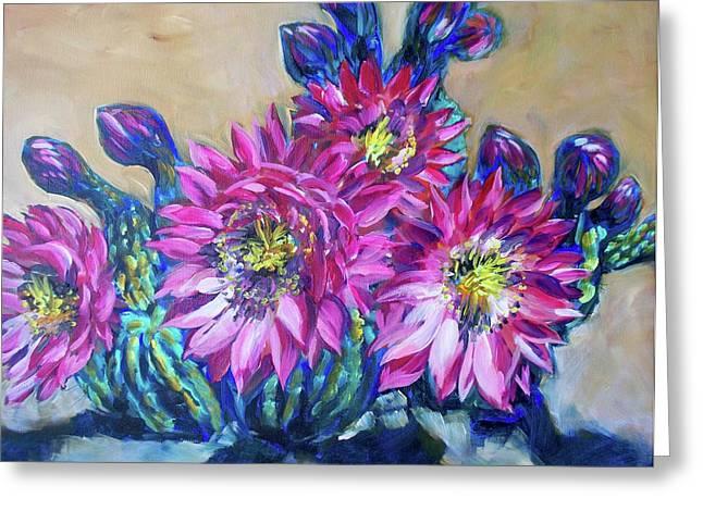 Petalos De Rosa Greeting Card by Sheila Tajima
