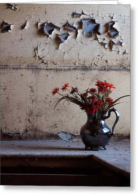 Petals And Peeling Paint - Preston Castle Greeting Card