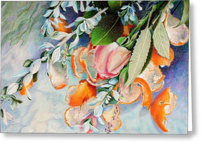 Petals And Peels Greeting Card by Robynne Hardison