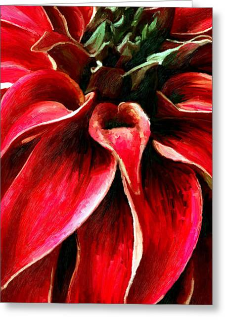 Greeting Card featuring the painting Petals by James Shepherd