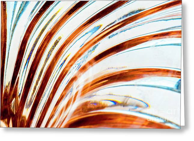 Greeting Card featuring the photograph Petals Of Glass by Wendy Wilton