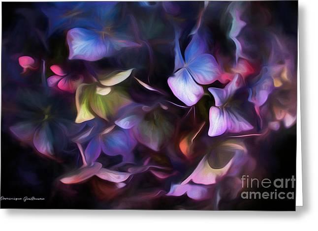 Petals Of Hydrangea Greeting Card