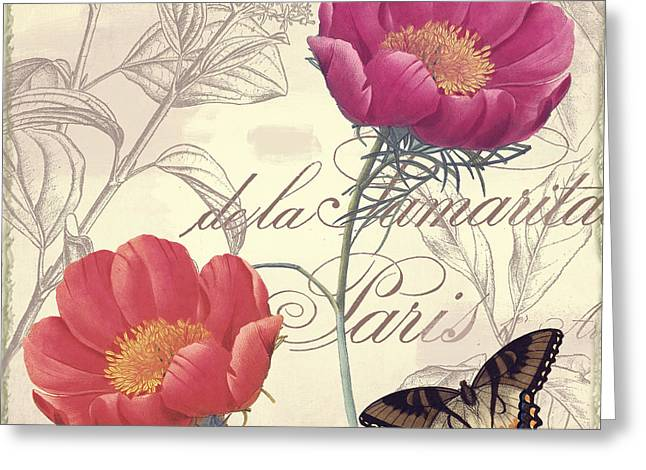 Petals Of Paris I Greeting Card by Mindy Sommers
